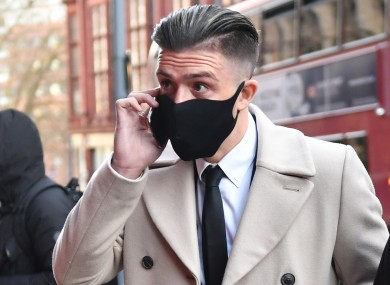 Jack Grealish arriving at Birmingham Magistrates' Court today.