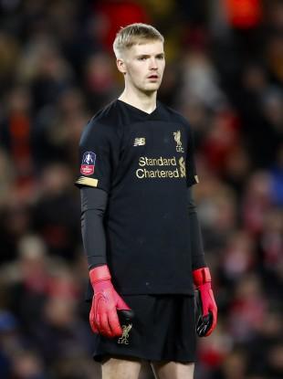 Liverpool goalkeeper Caoimhín Kelleher (file pic).