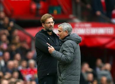 Mourinho with Klopp in 2018.