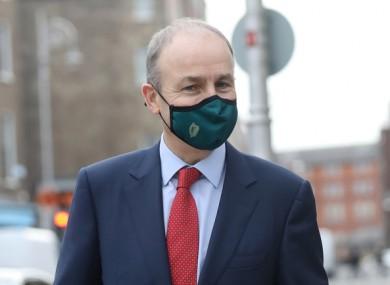 File image of Taoiseach Micheál Martin last month.