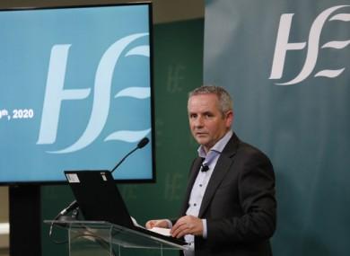 HSE CEO Paul Reid at today's briefing