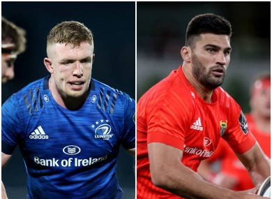 Dan Leavy and Damian de Allende will hope to shine for Leinster and Munster.