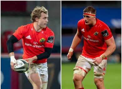 Craig Casey and Gavin Coombes have been in good form for Munster.