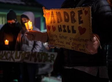 Vigil held for Andre Hill in Columbus, Ohio on 26 December.