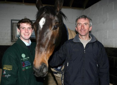 Niall Madden, left, and Martin Brassil with Numbersixvalverde.