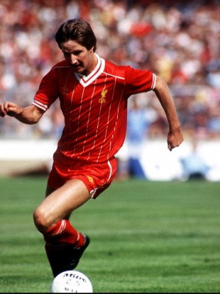 Ronnie Whelan in full flow for Liverpool in 1983.