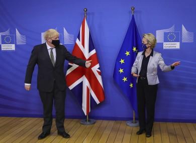 Boris Johnson and Ursula von der Leyen in Brussels earlier this week.
