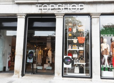 Arcadia is the group behind retailers such as Topshop