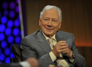 Gay Byrne appearing on the Late Late Show's 50th anniversary special