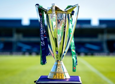 The Heineken Champions Cup trophy.