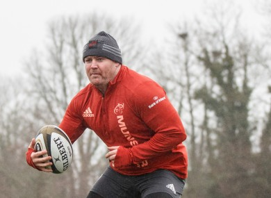 Dave Kilcoyne at Munster training.