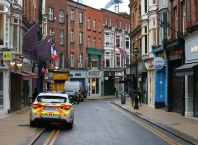 Wicklow Street in             Dublin earlier this week.