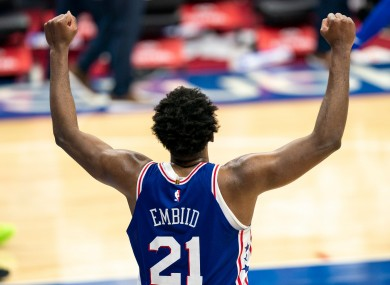 Embiid levelled the match with 4.3 seconds left to force overtime.