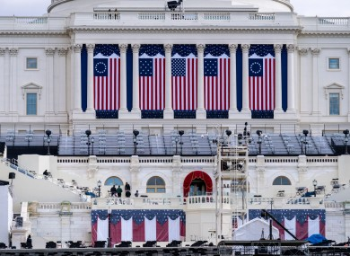 The Capitol is seen as security preparations continue leading up to President-elect Joe Biden's inauguration