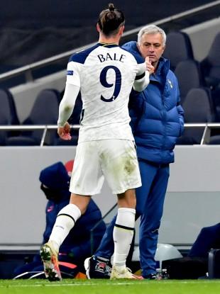 Gareth Bale and Jose Mourinho.