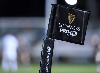 Guinness PRO 14 branding.