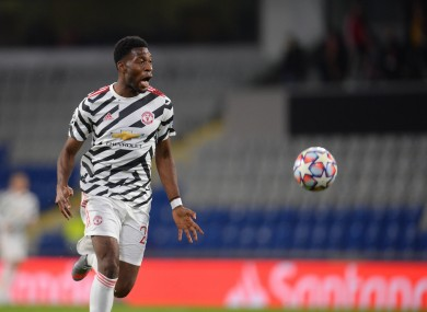 Timothy Fosu-Mensah in action for United
