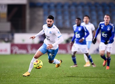 File photo: Morgan Sanson on the move for Marseille last year.