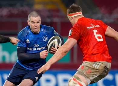 Sexton was forced off in the second half of Leinster's win over Munster.