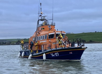 The lifeboat returning to Courtmacsherry