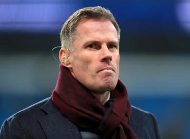 Former Liverpool defender Jamie Carragher is to sponsor Marine in their FA Cup tie against Tottenham.