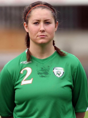 Marie Curtin pictured prior to an Ireland game in 2007.