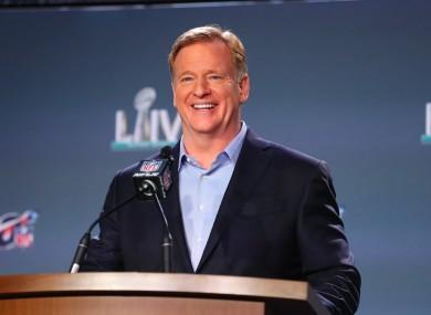 NFL Commissioner Roger Goodell (file pic).