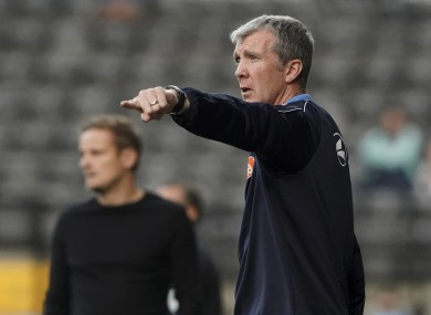 Jim Gannon is on his third spell as manager of the Hatters.