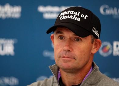 Pádraig Harrington pictured last September ahead of the Irish Open at Galgorm.