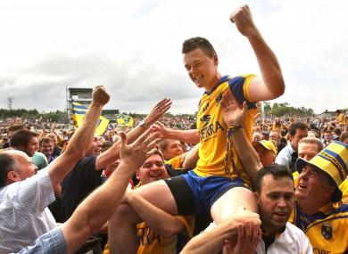 Donie Shine celebrates Roscommon's 2010 Connacht final success.