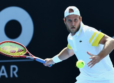 28-year-old Denis Kudla during the match.