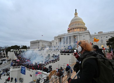 The policing of last week's riots in the US Capitol has been criticised.