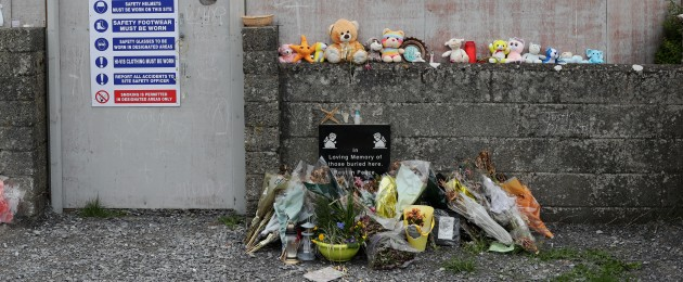 The site of a mass grave for children who died in the Tuam mother and baby home