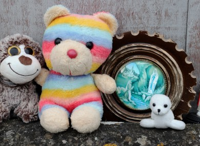 Tributes at the site of a mass grave for children who died in the Tuam mother and baby home, Galway (file photo).