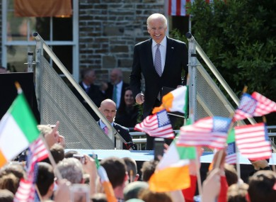 The US President while on a trip to Ireland in 2016.
