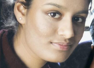 File photo. Shamima Begum