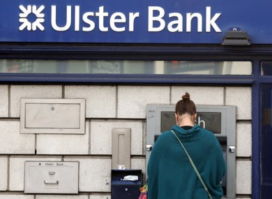 A customer at an Ulster Bank ATM in Dublin last year.