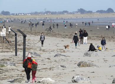 People enjoying the sun on Dollymount Strand in Dublin earlier this week.