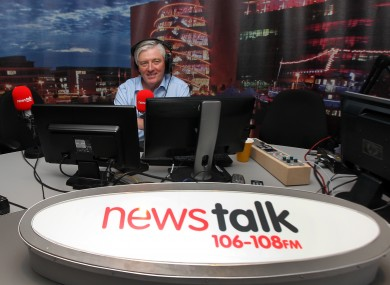 File photo. Pat Kenny hosts a morning show during the week on Newstalk.