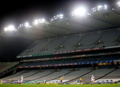 An empty Croke Park for last year's Leinster hurling semi-final.