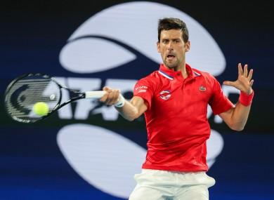 Novak Djokovic (file pic).