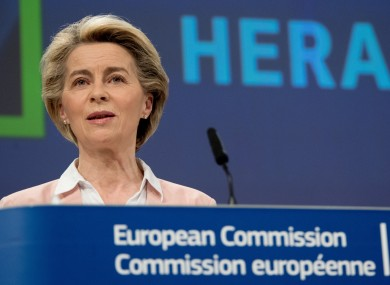 Ursula von der Leyen is set to announce the move later today.