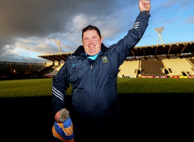 David Power celebrates after Tipperary's Munster final victory.