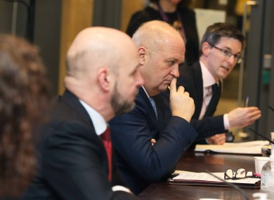 Public health officials at last night's briefing