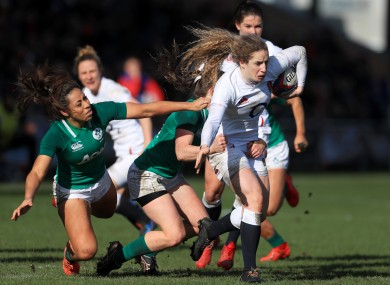 Action from Ireland v England in the 2020 Six Nations.
