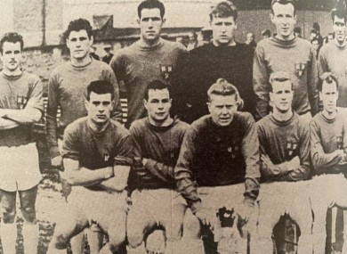 Hannigan, third from the left in the back row, enjoyed three spells with Shelbourne FC.