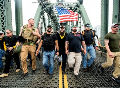 File image of members of the Proud Boys.