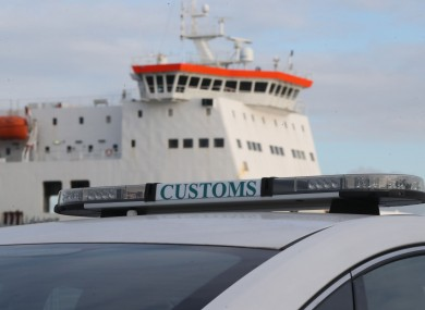 File image of a Customs vehicle at Dublin Port.