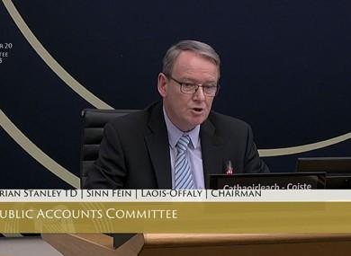 Sinn Féin TD Brian Stanley, chairman of the Public Accounts Committee