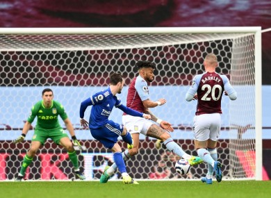 Leicester's James Maddison opened the scoring in their win at Aston Villa.